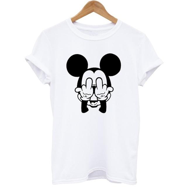 aliexpress com buy tumblr funny cartoon mickey tshirt women prints