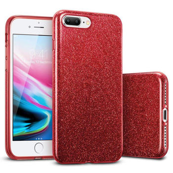 iPhone 8 Plus Case Bling Red