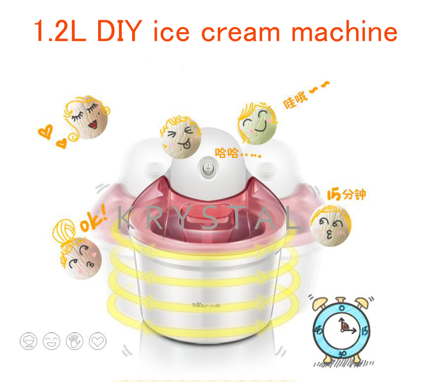 1.2L Mini Fruit Ice Cream Machine Household Automatic Ice Cream Machine Electric DIY Ice Cream Maker BQL-A12G1 mt 250 italiano pasta maker mold ice cream makers 220v 110v 250ml capacity ice cream makers fancy ice cream embossing machine