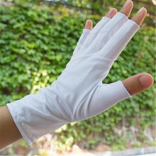 Ice Sleeve Sunscreen Gloves Male Female Driving Non-Slip Silk Quick Drying Half Finger Unisex Manicure UV25W-4