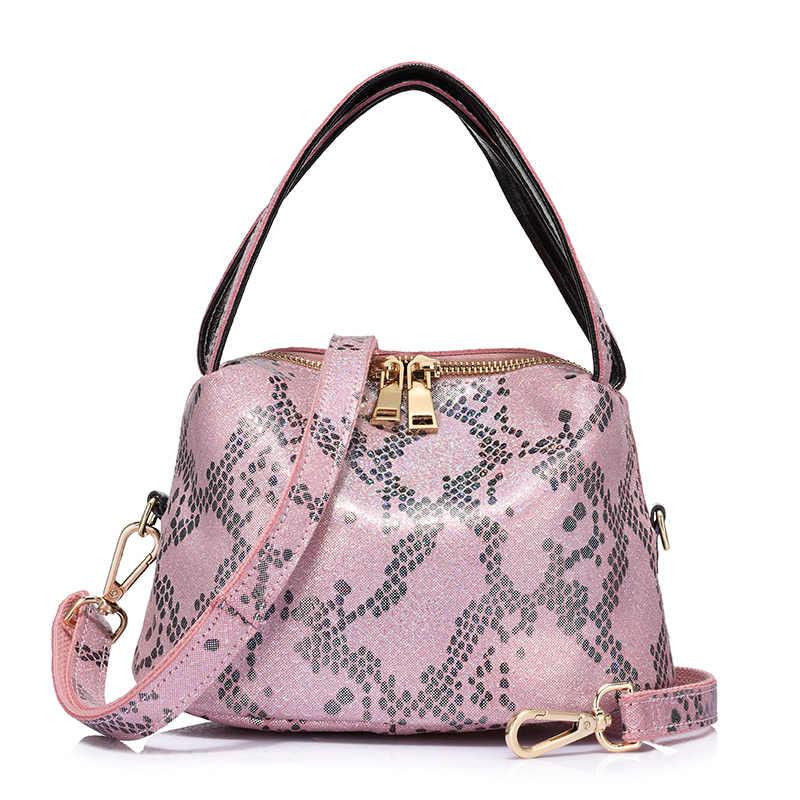 d956b15b66f7 ... REALER бренд новый приход женщин серпантин сумки неподдельной кожи дамы сумка  женская мода небольшие сумки небольшой ...