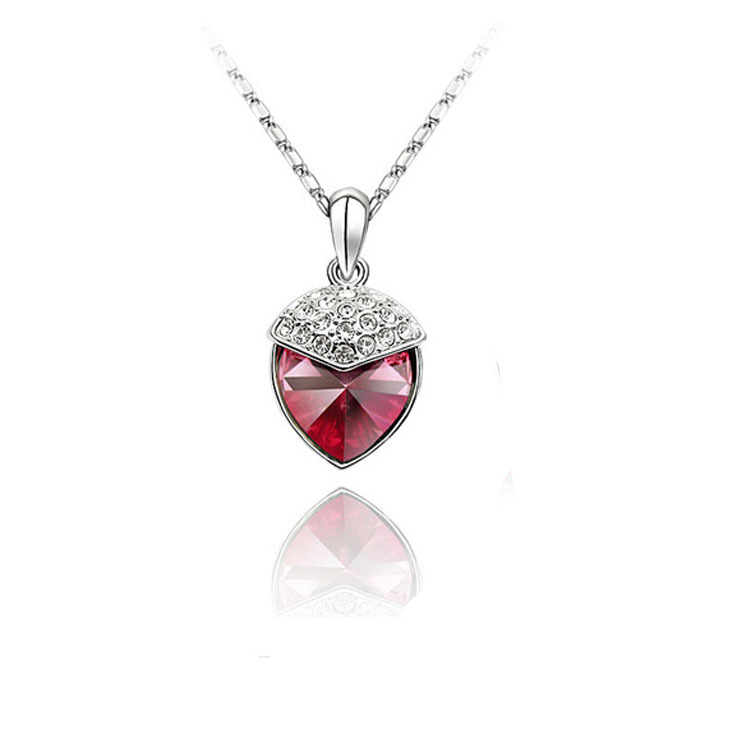 Crystal Strawberry Necklaces & Pendants 1