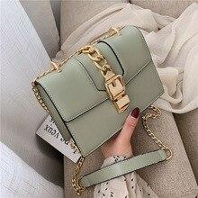 Female Crossbody Bags For Women 2019 Quality PU Leather Luxury Handbags Designer Sac A Main Ladies Chain Shoulder Messenger Bag