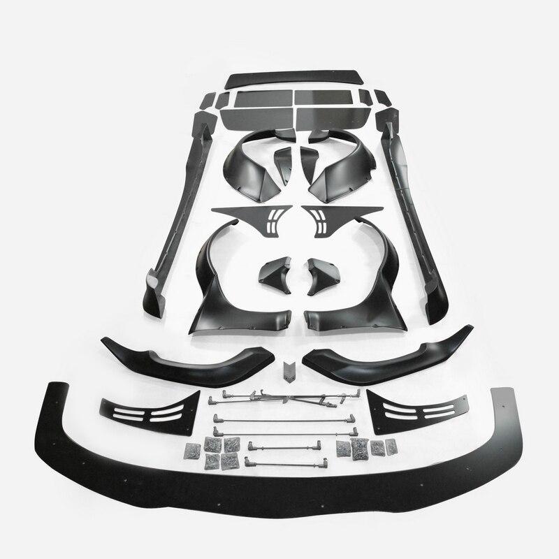 カーアクセサリーマツダ RX8 SE3P RB スタイル Frp ファイバーグラスフルワイドボディキットグラスファイバースプリッタリップサイドスカートフェンダースポイラー  グループ上の 自動車 &バイク からの バンパー の中 1