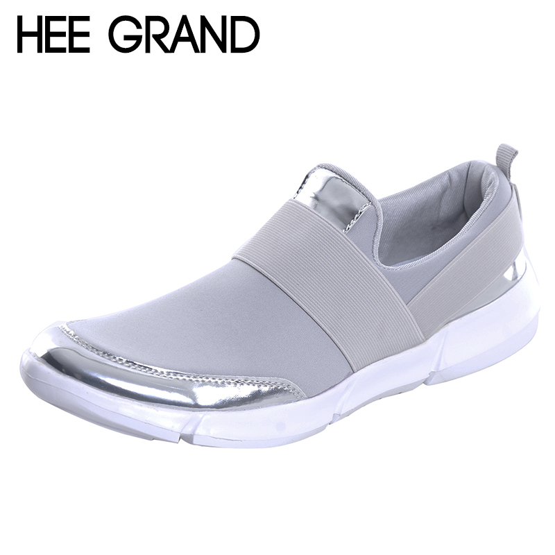 HEE GRAND Women Casual loafers Breathable Summer Flat Shoes Woman Slip on Casual Shoes 2018 New Flats Shoes size 35-42 XWC1276 hee grand flowers creepers pearl glitter flats shoes woman pink loafers comfort slip on casual women shoes size 35 43 xwc1112