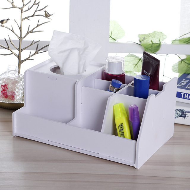diy office storage. DIY Storage Box Multifunction Tissue Desktop Organizer Cosmetic Home Office Bathroom Accessories Diy O