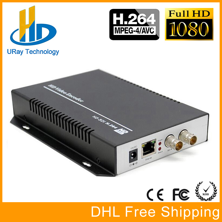 DHL free shipping H.264 HD 3G SDI Video Encoder HD SDI To IP SDI Over IP Video Streaming Encoder IPTV For Live Broadcast