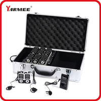 DHL Shipping !!! YARMEE Professional Wireless Tour Guide System Support 99 Channels Including 2 Transmitters And 30 Receivers