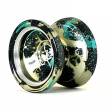 MAGIC YOYO style M002 Acid Wash Color Anodized Surface and Stainless Center Bearing Black+Green+Yellow