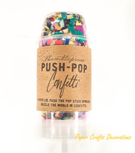 10pcsset colorful round push pop confetti poppers for celebration baby shower wedding decorations