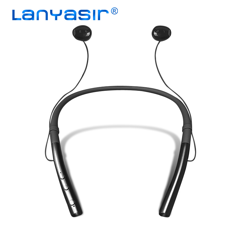 LANYASIR Q14 Wireless Headphones Waterproof Sports Bluetooth Earphones Lightweight Neckband Headset With MIC Noise-cancellation ravi sx 991 sports bluetooth headphones retractable foldable neckband wireless headset anti lost waterproof earphones auriculars