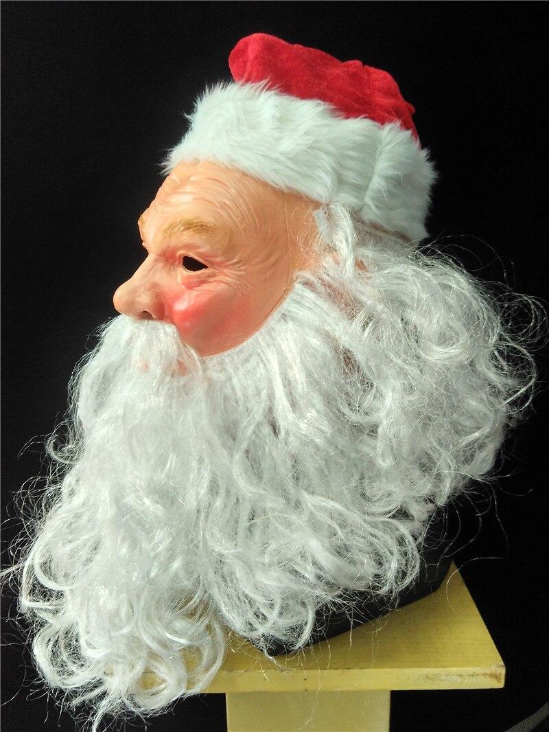 authentique ramasser qualité ▻De noël Cosplay Costumes Santa Claus Latex Masque avec ...