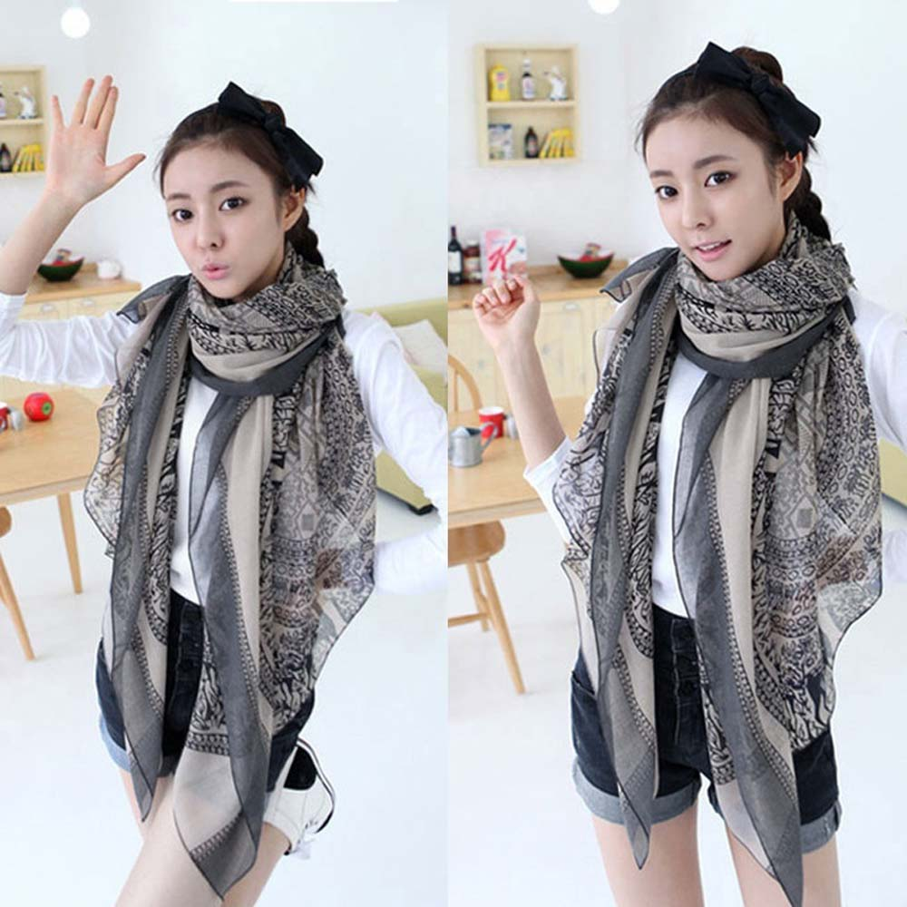 New Vintage Women Soft Long Neck Large   Scarf     Wrap   Shawl Pashmina Stole   Scarves