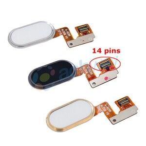 Image 2 - Meizu M3 Note L681H bouton daccueil capteur dempreintes digitales clé câble flexible ruban pièces de rechange Meizu L681H bouton 14 broches