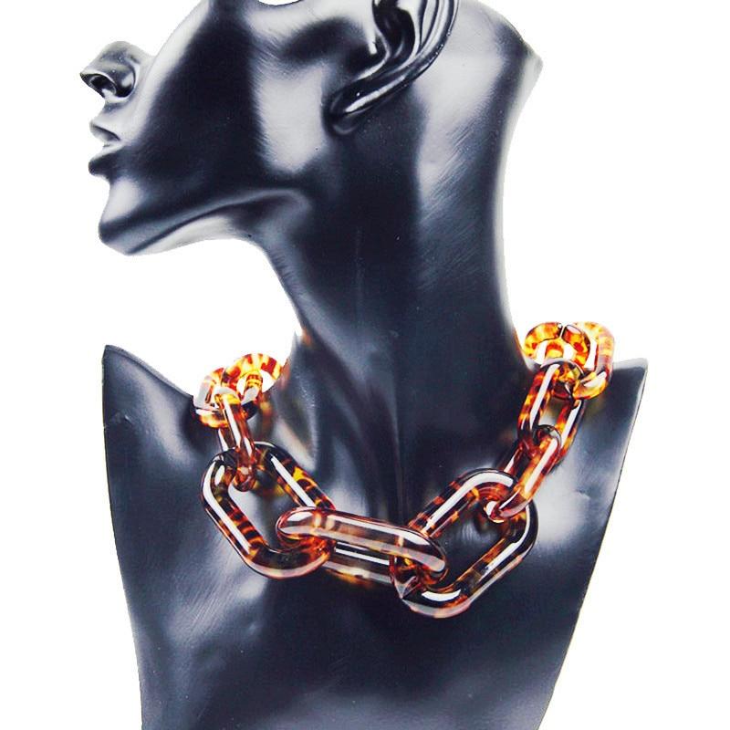 Statement Acrylic Big Choker Necklace For Women Maxi Resin Chunky Long Chain Necklaces Pendants Bijoux Fashion Female Jewelry редакция газеты наша версия наша версия 14 2018