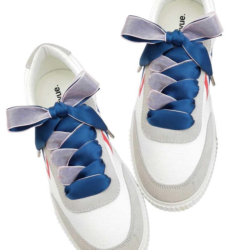 1 çift 2CM Genişlik 80/100/120cm Çift yüzlü Kar Iplik Saten ipek kurdele Ayakabı Dantel ayakkabı Dantel Moda Ayakkabı Ayakkabı Bağcıkları