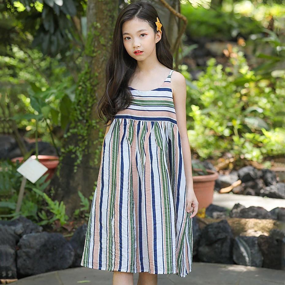 Teen Girls Dress Beach Dress For Kids 2019 Summer Dress ...