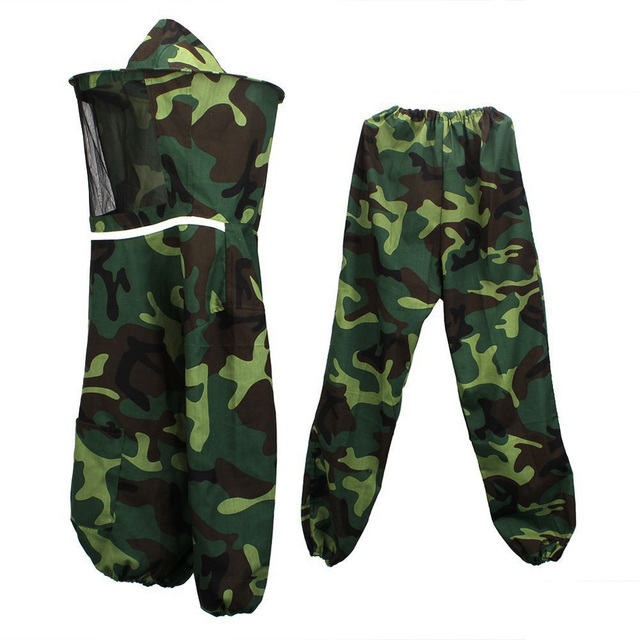 Bee Safety Clothing Jacket Pants Veil Bee Protecting Dress Camouflage Beekeeping Suit For Adult FC