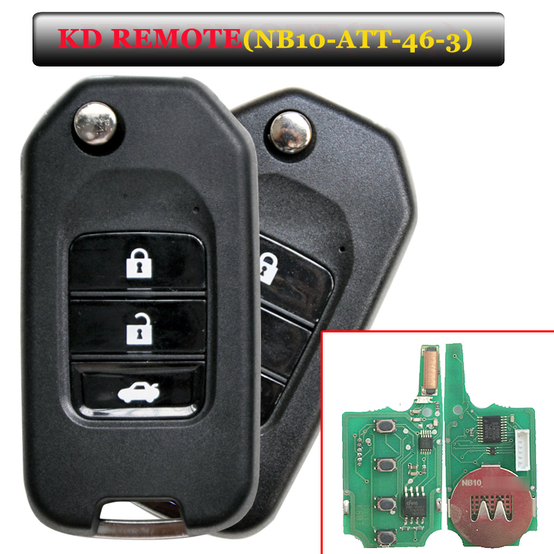 Free Shipping (1 Piece)NEW Offer KEYDIY Remote NB10 3 Button Remote Key With NB-ATT-46 Model For Kd900 Machine