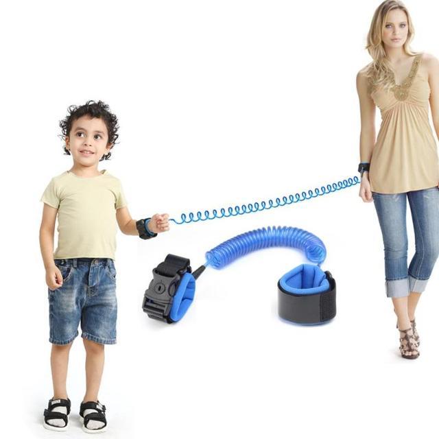 1.5/2/2.5M Kids Outdoor Walking Hand Belt Children Safety Anti Lost Wrist Link Strap Rope Parent-child Adjustable Harness Leash