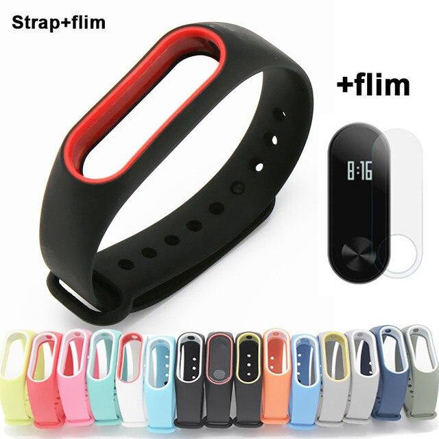 b1baf9b3aac Pulseira de silicone para Xiao mi mi 2 inteligente pulseira Assista  Bracelete Banda Cinta Para Xiao