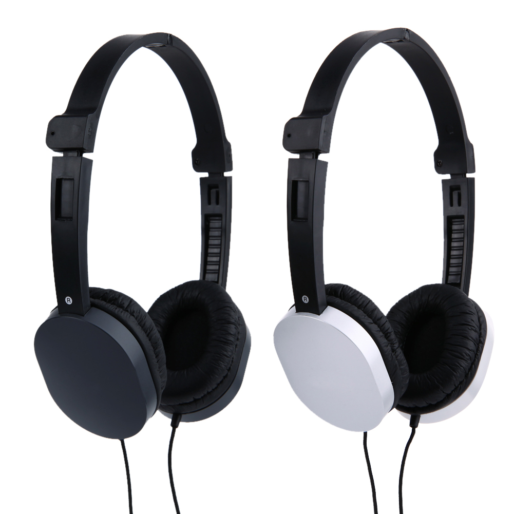 GS-J1 Headphone Portable 3.5mm Wired Stereo Headphone Hands-Free Headset with Mic For Computer Gaming Foldable Headphone rock y10 stereo headphone earphone microphone stereo bass wired headset for music computer game with mic