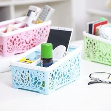 BF050 Multifunctional storage basket  integral hollow desk box 4case 19*13.5*10cm free shipping