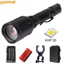 powerful LED flashlight torch 20000LM XHP50 Zoom Tactical defense flashlight Lantern Use 18650 Battery For Camping hunting light 1000 lm xml t6 led tactical flashlight hunting torch light rifle lights picatinny weaver mount charger 18650 battery