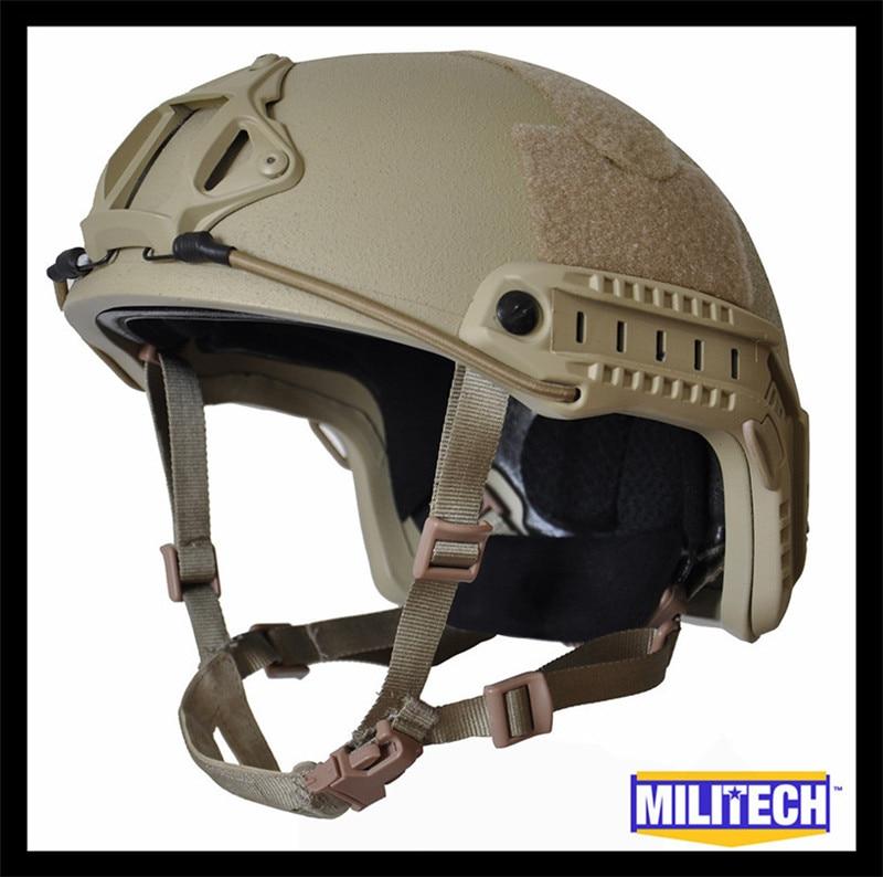 ISO Certified MILITECH DE Deluxe Worm Dial NIJ Level IIIA 3A FAST High Cut Ballistic Aramid Helmet With 5 Years Warranty DEVGRU