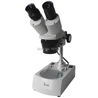 10X 20x Binocular Industry Stereo Microscope with Top and Bottom Light