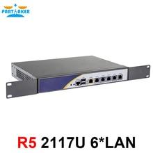 Сервер брандмауэра с процессором Celeron 2117U 1037U с низким энергопотреблением поддержка ROS Mikrotik PFSense Panabit Wayos 2G ram 32GB SSD