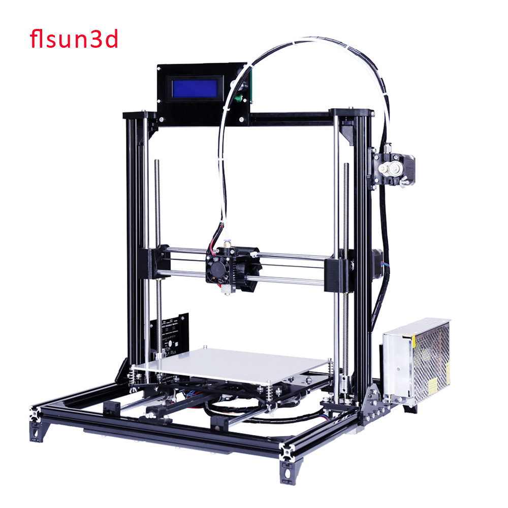 LCD display diy 3d printer kit, High Precision i3 3d printer with two rolls filament  SD card masking tape for Free