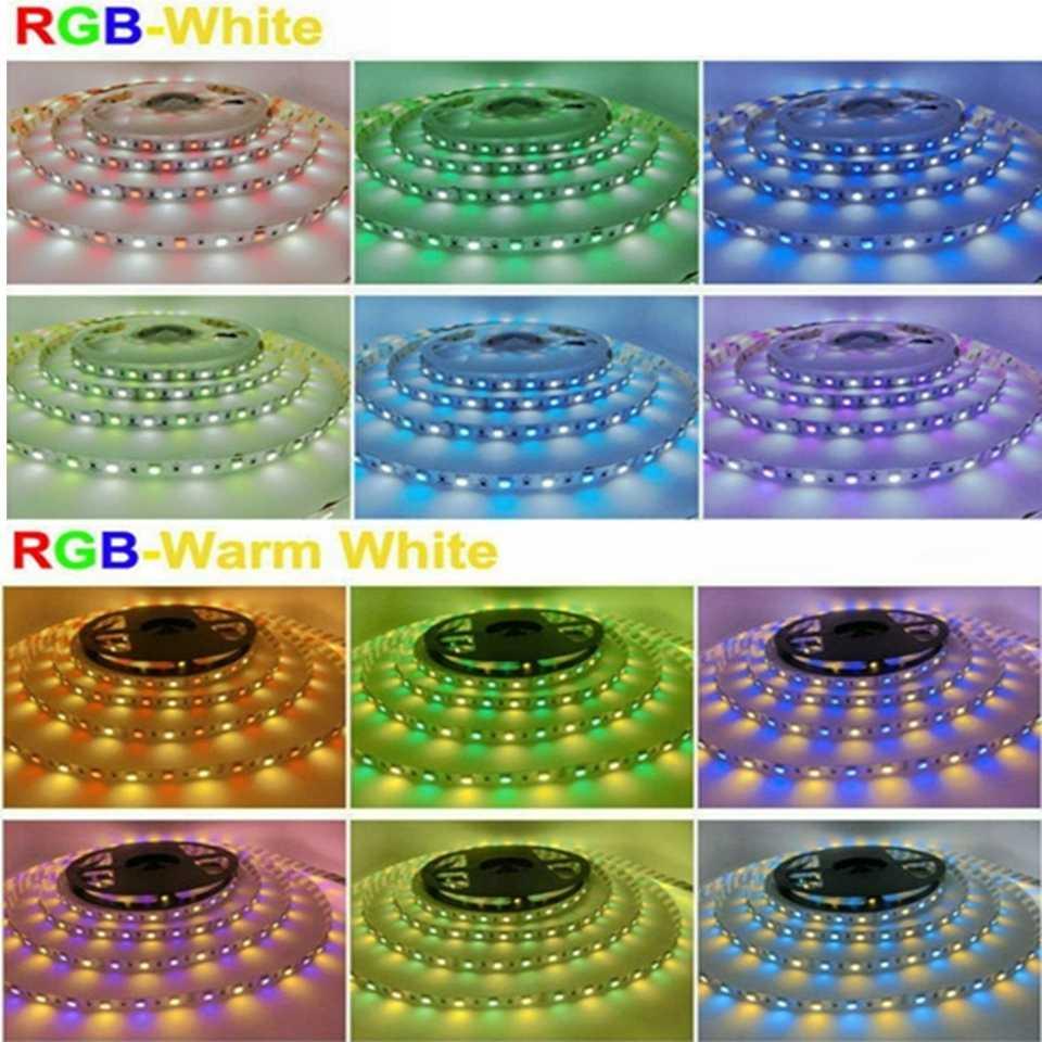 5 M 5050 taśma Led SMD RGB RGBW RGB + biały RGBWW RGB + ciepły biały Led elastyczne ciąg światło 60 diod Led /M DC12V KTV salon wystrój pas