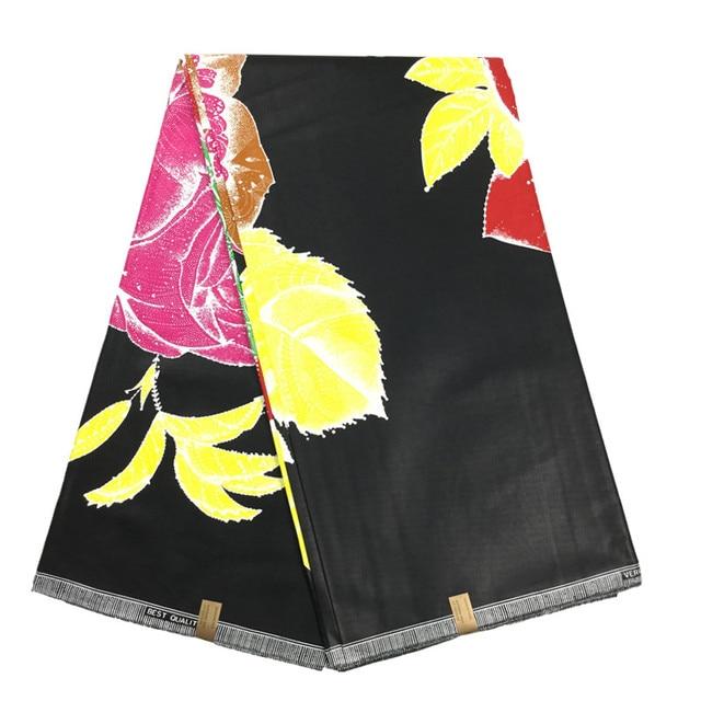 Black Color Java Wax Print Fabric Type Cotton Fabric Batik African
