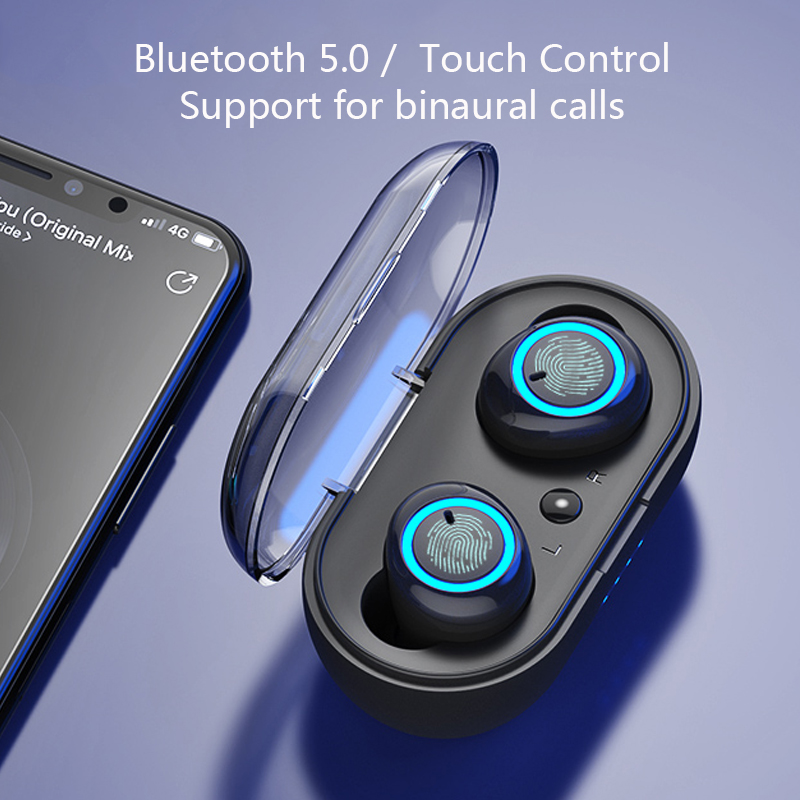 Touch Bluetooth 5.0 Earphone TWS Wireless Headphones Bluetooth Stereo Headset Sport Earphones With Mic True Wireless Earbuds