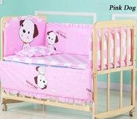 6pcs/set Cotton Baby Bed Bumpers For Newborns Baby Bedding Set 110*60cm Cartoon Print Soft Baby Bed Sheet Pillow ZT13
