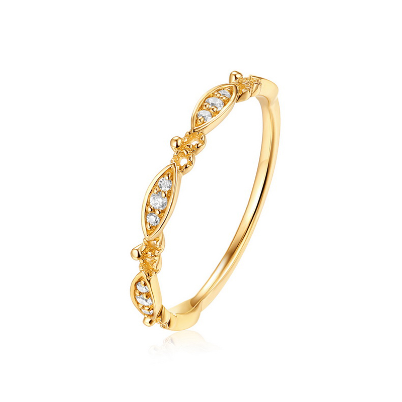 JXXGS New Designs Gold Color 3A Zircon Luxury Ring 14k Gold 3A Zircon Ring For Women