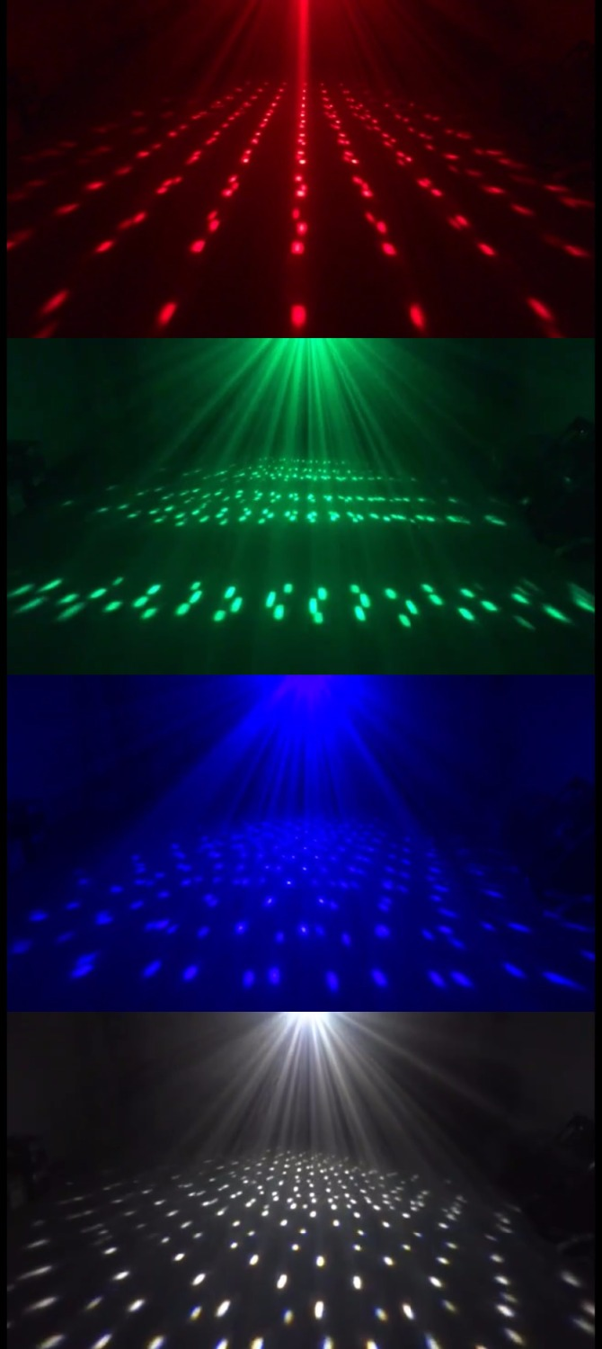 LED Stage Light RGBW 4in1 High-brightness lamps with LCD display CH8 nightclub home party DJ show lighting