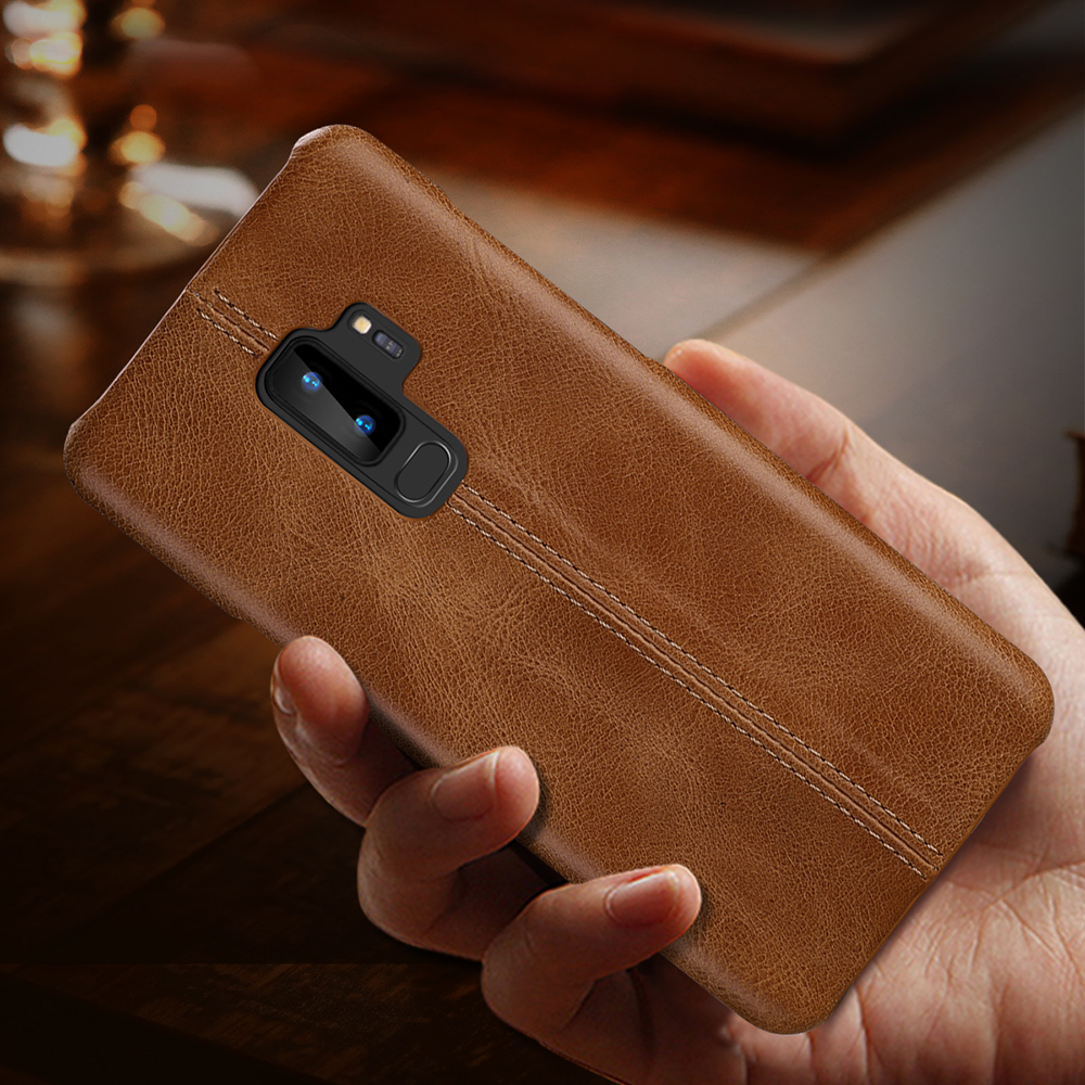 Genuine Leather Case For Samsung Galaxy S10 S9 S8 Plus S10e Slim Full Body Non Slip Resistant Cover Cases for Samsung Note 9 8-in Fitted Cases from Cellphones & Telecommunications