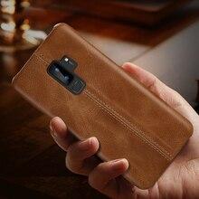Hakiki deri Samsung kılıfı Galaxy S10 S9 S8 artı S10e ince tam vücut kaymaz dayanıklı kapak kılıfları Samsung not 9 8
