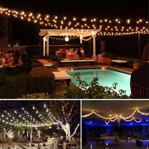 Image 5 - LED String Christmas Lights Outdoor 220V 10M Light Chain LED Festoon Bulb Wedding Party Garland Xmas Decoration Fairy Lights