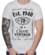 MenS 70Th Birthday T Shirt Est 1948 Vintage Seventieth 70 Years Gift Men 2018 Brand