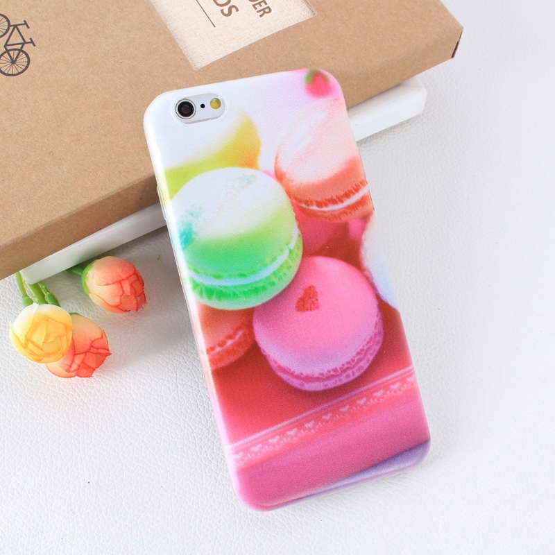 Color Macarons cake Design Fashion soft TPU Phone Cases For iPhone 6 6s TPU Fundas Cover for iPhone SE 5 5s 5G phone bags (2)