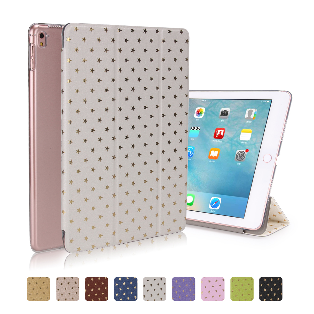 Ultra-thin Slim Smart Wake up/Sleep Back Cover For Apple iPad Air 1 PU Leather Shell For iPad Air 2 Stars Case for iPad 5 6 sgl luxury ultra smart stand cover for ipad air 1 ipad5 case luxury pu leather cover with sleep wake up function for ipad air1