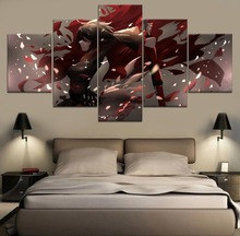 Sickle girl RWBY Anime HD Print Painting Home Decor 5 Piece Paintings Wall Art Canvas Modern Room Artwork