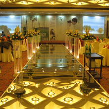 New 100cm*10M Wedding Mirror Carpet T Stage Carpet Runner For Wedding party Backdrop Decorations 0.12mm Thickness PET