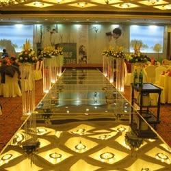 Nowy 100cm * 10M ślub lustro dywan T etap chodnik dywanowy na ślub tło imprezowe dekoracje 0.12mm grubość PET w Dywany od Dom i ogród na
