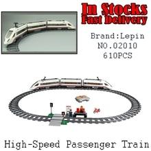 Lepin 02010 610 Unids Nuevo Creador de La Serie El Tren de Pasajeros de Alta velocidad de control Remoto Conjunto de Bloques de Construcción de Camiones Juguetes de Los ladrillos 60051