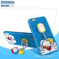 Doraemon iphone6s plus mobile phone shell 7 shell anti dropping pendant protective sleeve Cartoon cute blue cat phone case