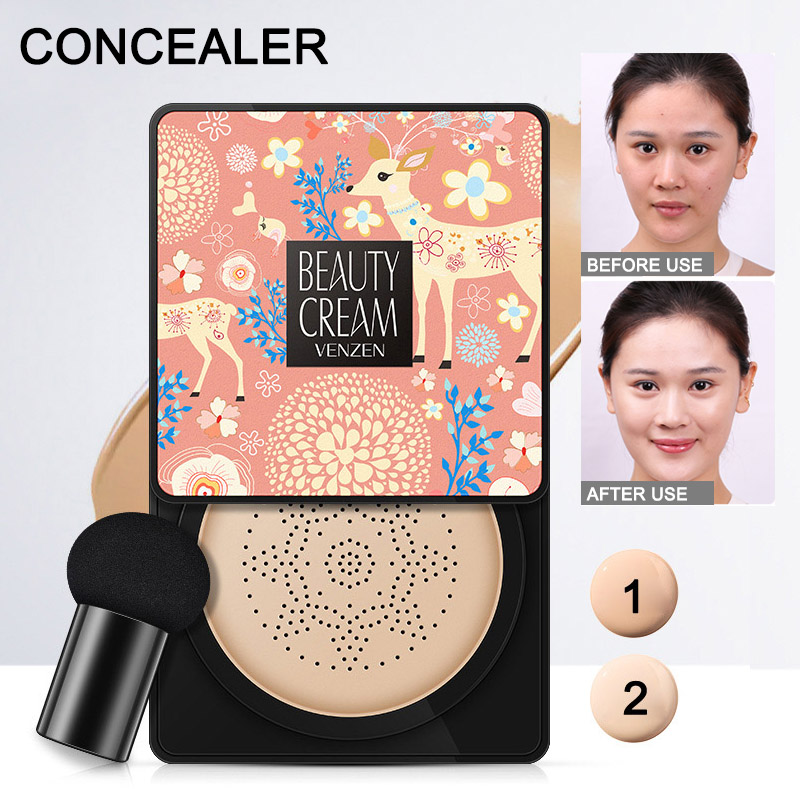 Image 4 - Small Mushroom Head Air Cushion BB Cream Concealer Makeup Finish White Moisturizing Makeup CC cream-in BB & CC Creams from Beauty & Health